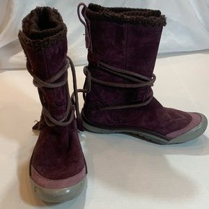 Winter boots Cushe leather plum color waterproof